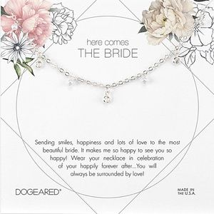 Dogeared Bride Pearl Silver Necklace